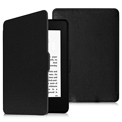 Fintie SmartShell Case for Kindle Paperwhite - The Thinnest and Lightest Cover With Auto Sleep / Wake for All-New Amazon Kindle Paperwhite (Fits All 2012, 2013, 2015 and 2016 Versions), Black