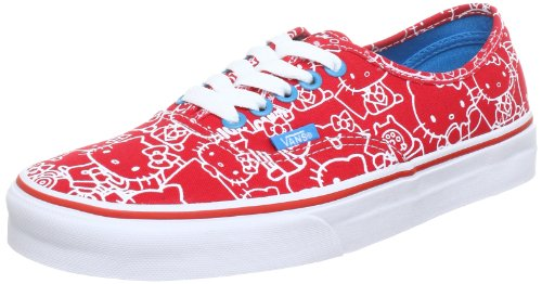 Vans  U AUTHENTIC (HELLOKITTY)HIR,  Sneaker unisex adulto, Rosso (Rot ((Hello Kitty) high risk red/hawaiian ocean)), 42
