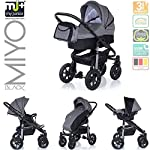 My Junior+® Miyo Kombikinderwagen 3 in 1-3 Years Guarantee-Autositz (11-Teile-Set)