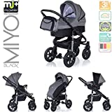 My Junior+ Miyo Kombikinderwagen 3 in 1-3 Years Guarantee-Autositz (11-Teile-Set)