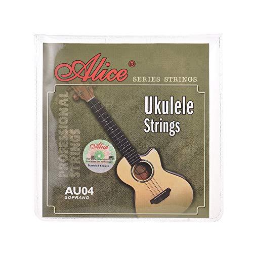 Kalaok AU04 Soprano Ukulele Ukelele Set di corde Uke (BFDA) Clear Nylon (.022-.032)