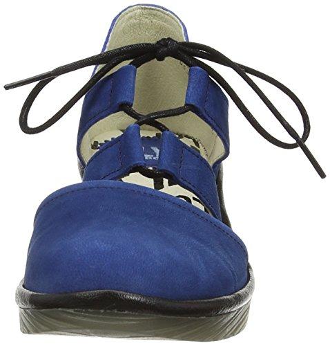 Fly London Poma - Scarpe col tacco donna Blu (Blue (Blue/Black))
