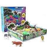 XDDIAS Sabbia Magica, 500g Cinetica Playset Sabbia - 3D Magica Sabbia Scatola con 12 Giocattoli Animali &10 Sabbia Stampi per Bambini