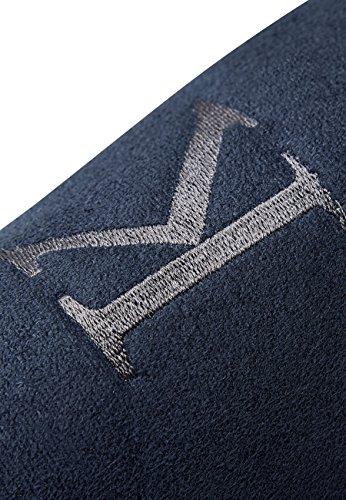 next Herren Slipper mit Monogramm Marineblau XL