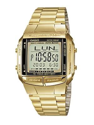 Casio–Reloj de cuarzo para hombre con esfera LCD pantalla Digital y correa de acero inoxidable
