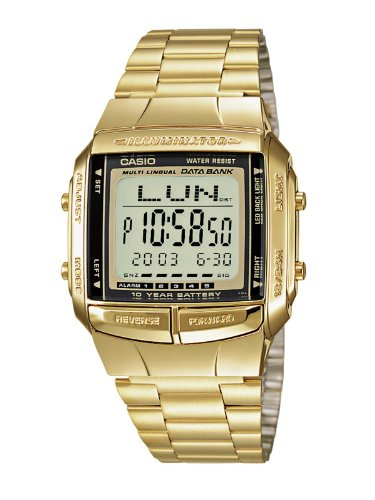 Casio Collection – Reloj Hombre Digital con Correa de Acero Inoxidable – DB-360GN-9AEF