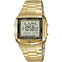 Casio Collection Reloj Digital para Hombre con Correa de Acero Inoxidable – DB-360GN-9AEF