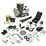 2 Stroke Petrol Bicycle Bike Conversion Kit Electric & Pull Start 80cc