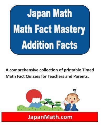 Japan Math Addition Facts Mastery by Jody Weissler (2014-08-28)