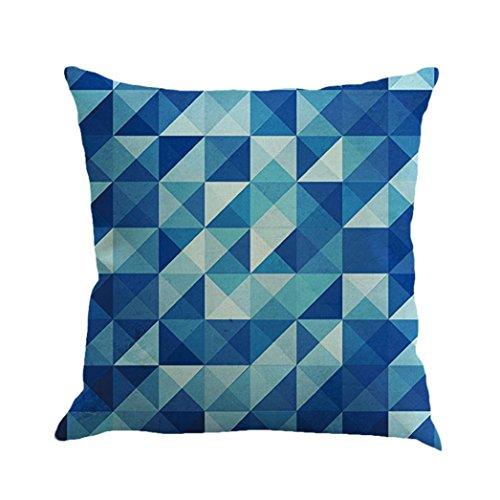 Lilicat Kissenbezug 45cm*45cm Geometrie Drucken Leinen Dekokissen Fall Sofa Wohnkultur Cotton Cushion Cover Home Decor (B)
