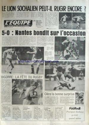 EQUIPE (L') [No 10867] du 22/04/1981 - LE LION SOCHALIEN PEUT-IL RUGIR ENCORE - NANTES - FOOT - BIGORRE - RUGBY - CLERE LA BONNE SURPRISE - ATHLETISME - BASKET - CAEN - LES FRERES GALLE - BATEAUX - ESCRIME - ITALIE - TENNIS DE TABLE - CHINE. par Collectif
