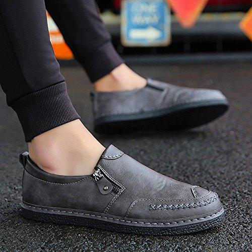Feifei Chaussures Homme Printemps Et Automne Loisir Respirant Mode Marée Chaussures 3 Couleurs (choix Multiple) (coloris: Noir, Dimensions: Eu43 / Uk9 / Cn44) Gris