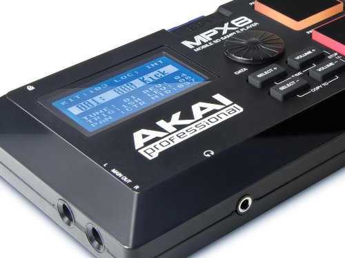 AKAI Professional MPX8 Portable Sample Pad Controller with 8 Performance-Ready Pads and On-Board SD Card Slot