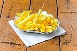 250 Stück BAMI Pappschale - 10,5 x 17,5 x 3 cm - oval - Pommesschale für Currywurst Pommes Schalen Schale Imbiss Schale Pappe weiß