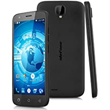 "Ulefone U007 - Smartphone Libre 3G Android 6.0 (5"" IPS,MT6580A, Quad Core, 1.3GHz, Cámara 8.0 Mp, 1G RAM, 8G ROM, Gestos Inteligentes) (Negro)"