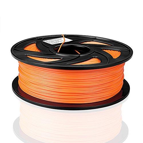 SIENOC 1 Packung 3D Drucker PLA 1.75mm Printer Filament - Mit Spule 1kg (Zusammengesetzt/Orange)