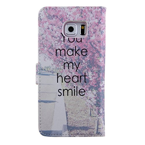 iPhone 5S Wallet Case Cover - Felfy Ultra Slim Cuir Coque Pour Apple iPhone 5/5S Flip you make my heart smile Motif PU Étui Portefeuille Housse Etui Holster + 1x Argent Touch Stylus + 1x
