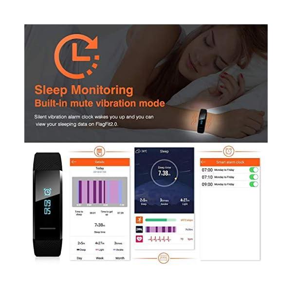 ELEGIANT Pulsera de Actividad Inteligente Reloj Deportivo IP67 para Hombre Mujer con GPS Monitor de Sueño Podómetro… 6