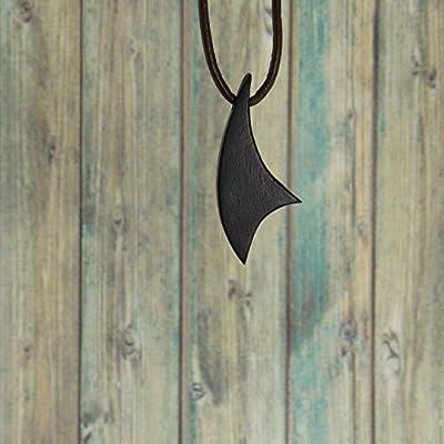 Collier homme ou femme en bois d'ébène noir pour homme ou femme. Collection Les Classiques.