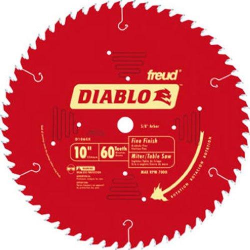 Freud D1060X Diablo 25,4cm 60Zahn ATB feines Finish Sägeblatt mit 5/8Zoll Arbor und permashield Beschichtung