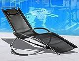 Outdoortips Folding Garden Rocking Chair Comfortable and Robust Design Indoor Outdoor Garden & Patio