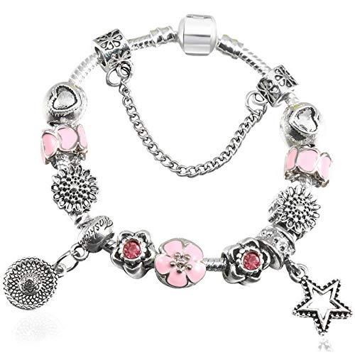0f795692b59c GSYDSZ Pulsera de Perlas de Cristal para Mujer Pulseras de Cadena de  Serpiente Fit Pulsera de
