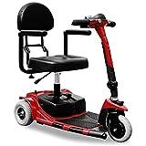 Elektrische Rollstuhl Dreirad zt-17 a Elektrische Mobilität Scooter mit 3 Rädern 180 W Trilux Electricial Fahrzeug bis zu 6 km/h Rot