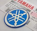 100% GENUINE 30mm Durchmesser YAMAHA STIMMGABEL Aufkleber Sticker Emblem Logo BLAU Erhöht Gewölbt Gel Harz Selbstklebend Motorrad / Jet Ski / ATV / Schneemobil