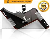 #3: McBeard All in One Beard Shaping Template Tool & Beard Comb. Premium Quality,Ideal for Straight & Curve Cut, Goatee,Sideburns & Neckline