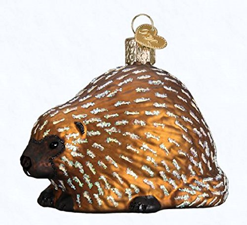 Old World Christmas Porcupine Glass Tree Ornament 12511 Free Box Wildlife Animal - Porcupine Kissen