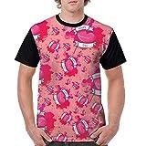 Photo de YAHOA Valentine's Day Watercolor Men's 3D Pattern Printed Retro T-Shirt Round Neck T-Shirt par YAHOA