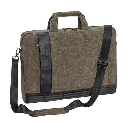 PEDEA Notebooktasche Fancy für 15,6 Zoll (39,6cm) mit Zubehörfach und Schultergurt, beige