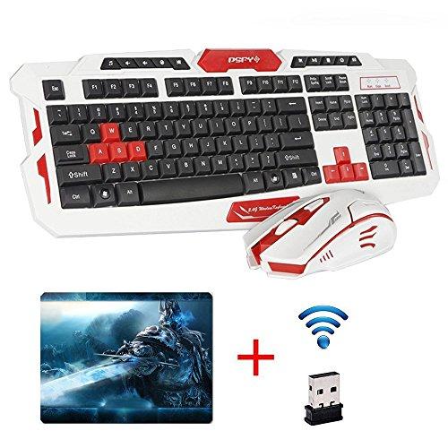 UrChoiceLtd® Tastatur Maus-Set, CityForm HK8100 Kabellos Multimedia Spiel Tastatur + 2.4G