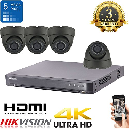 HIKVISION CCTV HD 4 K 5 MP Nachtsicht Outdoor DVR Home Security System Kit (grau) Kamera Sicherheit System Von Zmodo