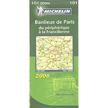 Banlieue de Paris du périphérique à la Francilienne : 1/53 000