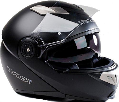 TK380 Motorradhelm Klapphelm Motorrad Helm schwarz - matt Takachi Gr. XS - XXL