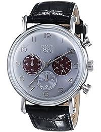 Cerruti 1881 TREMEZZO CRA110SN61BK - Reloj para hombres, correa de cuero color negro