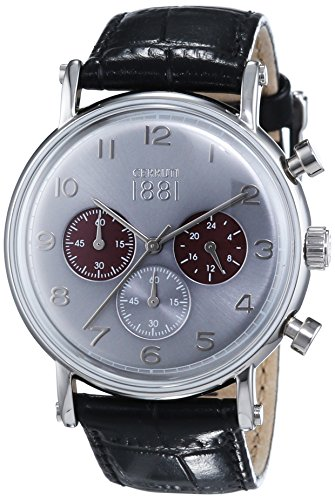 Cerruti 1881 Herren-Armbanduhr TREMEZZO Analog Quarz Leder CRA110SN61BK