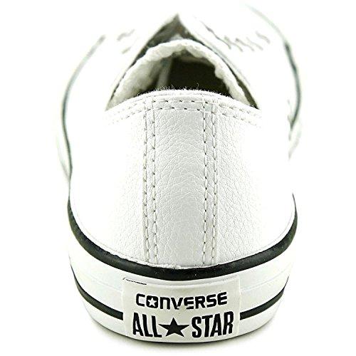 Converse Chuck Taylor All Star OX Canvas-Turnschuhe für Kinder, Weiß - White Leather - Größe: 17 EU M Kleines Kind