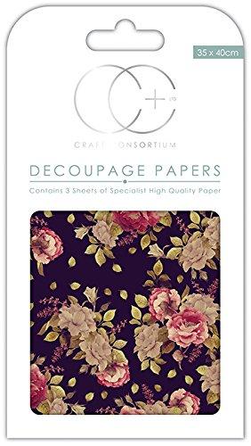Craft Consortium Premium Découpage Papers-Herbst Bloom