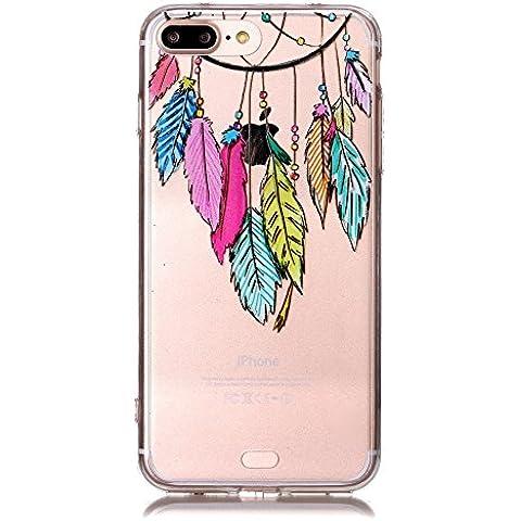 Qissy®TPU Cover iPhone 7 plus Case Anti-scratch Gel Silicone Custodia farfalla Caso