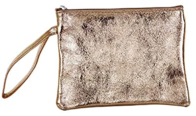 Italian Soft Leather Hand Made Zipped Wristlet, Clutch Bag, Handbag, Coin Purse or Debit Credit Card Holder with Wrist Strap Handle and Zip Closure. Available in a Multitude of Colours