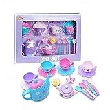 Kaffeeservice Kinder,16 Stück pro Set Tee Set Spielzeug Teeservice Kaffeeservice Kunststoff Rollenspiele Kinderküche für Kinder Mädchen Jungs 3 Jahre alt