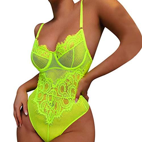 LILIHOT Damen Padded Bikini-Set Streifen zweiteilig Swimwear Beachwear Frauen-reizvolle Wäsche-Nachtwäsche-Unterwäsche-Spitze-Einteilige Unterwäsche Bademode Strandbekleidung Badeanzug (Frauen Boy Cut Unterwäsche)