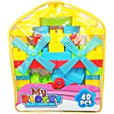 Shanaya Toys 48 Pieces Building Blocks With Stickers For Kids (Multicolor Big Size Blocks)