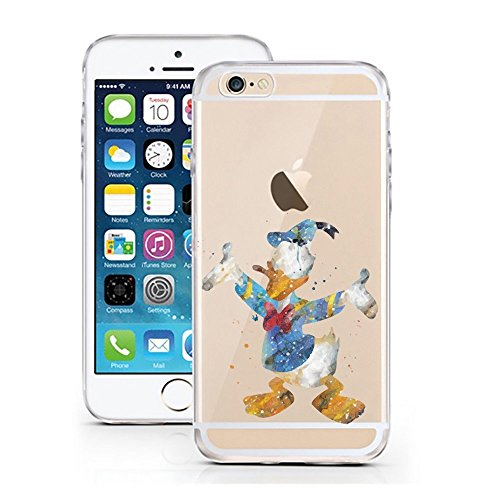 Case Star AQUARELL Comic Schutz Hülle Transparent TPU Cartoon Ente Duck Aquarell M3 für iPhone 7/8