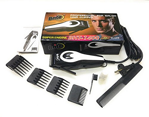 Brite BHT-1400 Professional Electric Hair Trimmer Heavy Duty Grooming Set for Men, Women (Orange or MutliColor)
