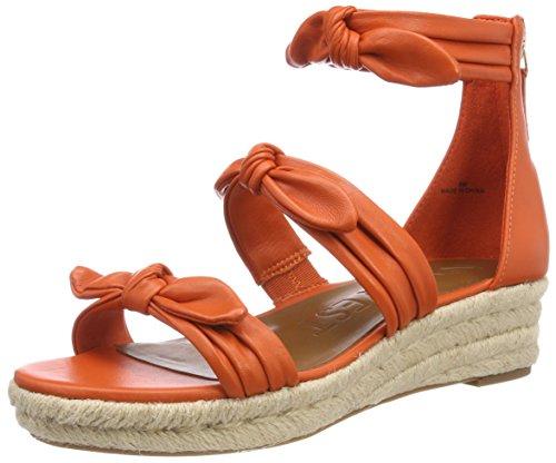Nine West Damen, Plateausandalen ALLEGRO, Orange (Orange Leather), 36 EU (6 US) (West Schuhe Keil Frauen Nine)