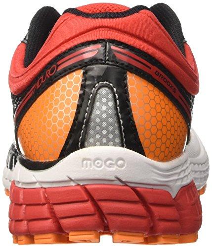 Brooks Aduro 4, Chaussures de Course Homme Multicolore (Black/highriskred/vibrantorange)