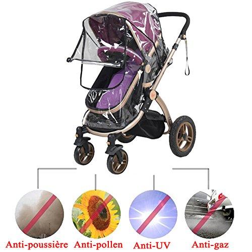 official photos 9b70e 7b870 Tomkity - Capote de protection imperméable contre la pluie et le vent pour  poussette de bébé avec ...